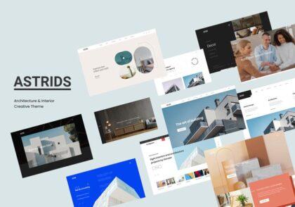 دانلود قالب وردپرس Astrids - پوسته معماری و طراحی داخلی وردپرس